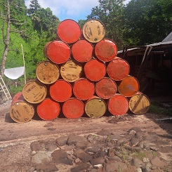 Stacked Diesel Barrels, Fiji